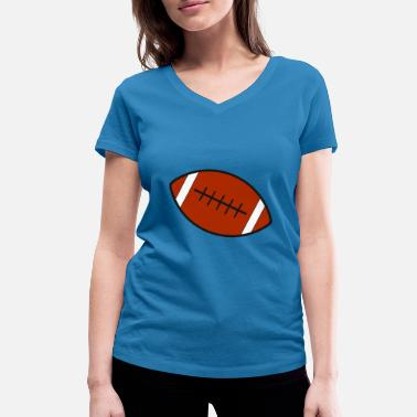 Rugby Rugby team football fan rugby team american football - Women's Organic V-Neck T-Shirt