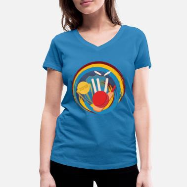 Match West Indies Cricket Fan Or Player product - Women's Organic V-Neck T-Shirt