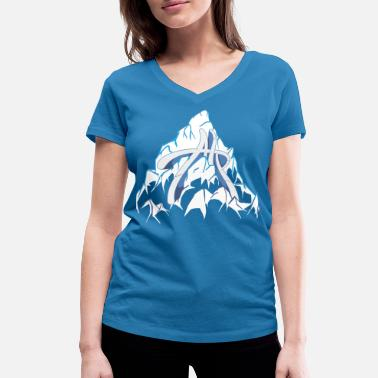 Alps Mountains alp in the mountain - Women's Organic V-Neck T-Shirt