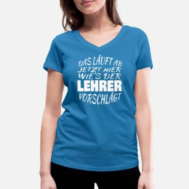 Suggestive Run here as the teacher suggests - Women's Organic V-Neck T-Shirt