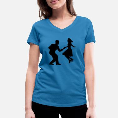 Swing Swing dance - Women's Organic V-Neck T-Shirt