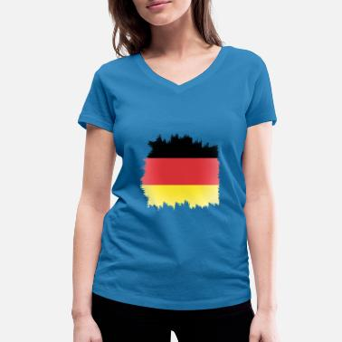 Europe Germany flag europe - Women's Organic V-Neck T-Shirt