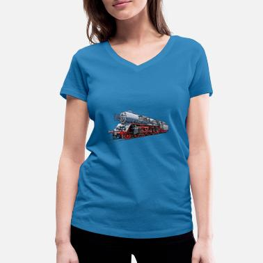 Steam locomotive BR 03 1010 of the DR - Women's Organic V-Neck T-Shirt