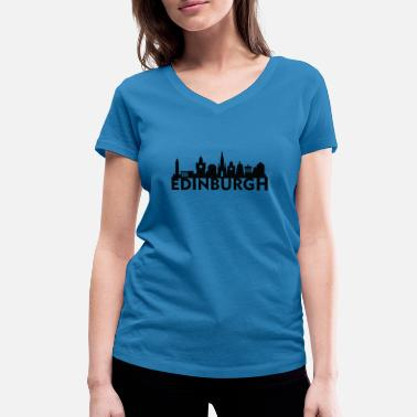 Edinburgh Edinburgh Scotland UK Skyline Gift Idea - Women's Organic V-Neck T-Shirt