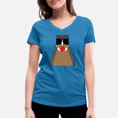 Bowling Alley The bowling alley - Women's Organic V-Neck T-Shirt