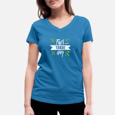 Trade Fair Fair trade - Women's Organic V-Neck T-Shirt