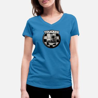 Drivers License Trucker - Women's Organic V-Neck T-Shirt