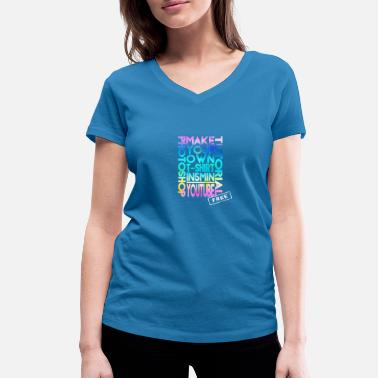 Philosophie Make a T-Shirt in Photoshop. T-Shirt. - Frauen Bio T-Shirt mit V-Ausschnitt