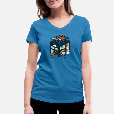 Old Food food factory - Women's Organic V-Neck T-Shirt