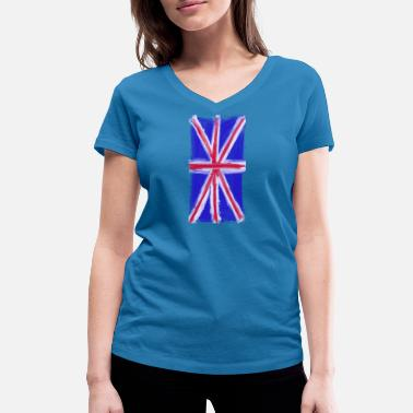 The British Empire British flag - Women's Organic V-Neck T-Shirt