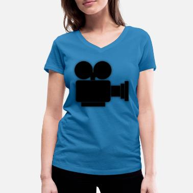 Camera Icon Camera Icon Camera Roll Movie - Women's Organic V-Neck T-Shirt