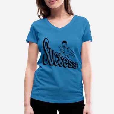 Success success - Women's Organic V-Neck T-Shirt