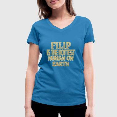 Filip - Women's Organic V-Neck T-Shirt by Stanley & Stella