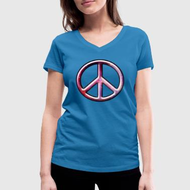 3D CND Cosmos - Women's Organic V-Neck T-Shirt by Stanley & Stella