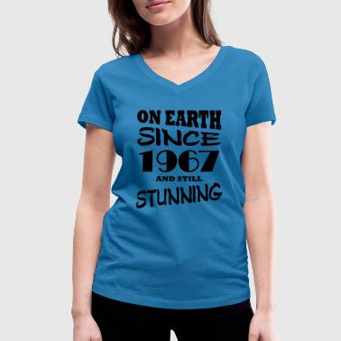 On earth since 1967 and still stunning - Women's Organic V-Neck T-Shirt by Stanley & Stella