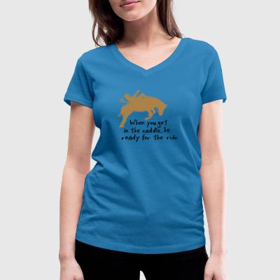 horse riding - Women's Organic V-Neck T-Shirt by Stanley & Stella