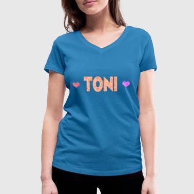 Toni - Women's Organic V-Neck T-Shirt by Stanley & Stella