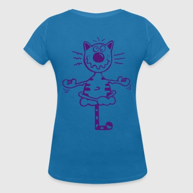 Fitness cat - Women's Organic V-Neck T-Shirt by Stanley & Stella