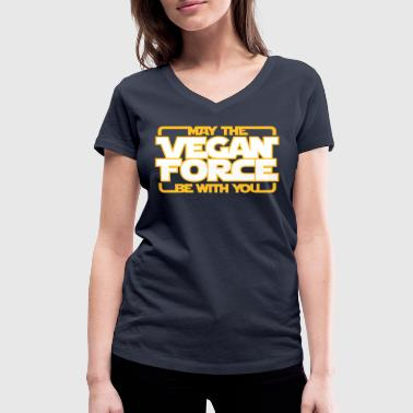 may the Vegan Force be with you  - Vegan - Veganer - T-shirt ecologica da donna con scollo a V di Stanley & Stella