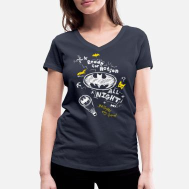 Batman Ready for Action - T-shirt bio col V Stanley & Stella Femme