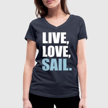 sailing - Women's Organic V-Neck T-Shirt by Stanley & Stella