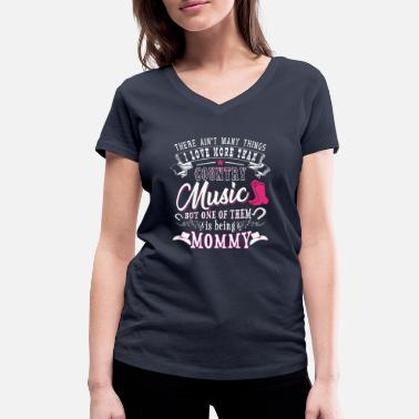 Nashville I love Mommy more than Country Music - T-shirt bio col V Stanley & Stella Femme
