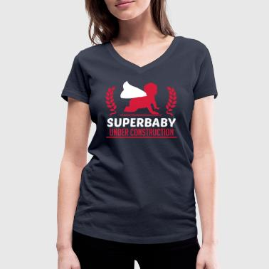 Superbaby under construction - T-shirt ecologica da donna con scollo a V di Stanley & Stella