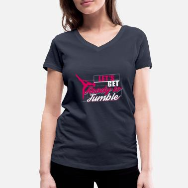Tumbling Let's get ready to tumble - Gymnastic Gift - Women's Organic V-Neck T-Shirt by Stanley & Stella