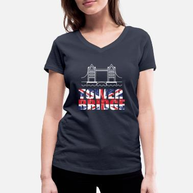 Tower Bridge Tower Bridge - Ekologisk T-shirt med V-ringning dam från Stanley & Stella