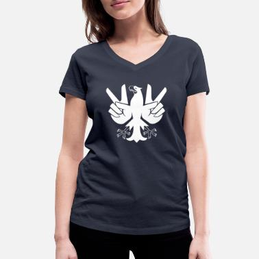 German Eagle Cool Peace Eagle | Peace Eagle | German eagle - Women's Organic V-Neck T-Shirt