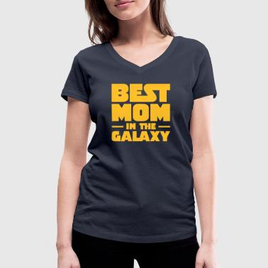 Best Mom In The Galaxy - T-shirt bio col V Stanley & Stella Femme