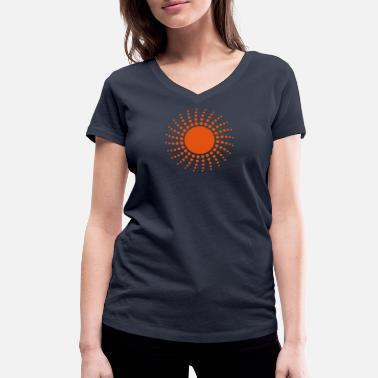 Sun - Women's Organic V-Neck T-Shirt by Stanley & Stella