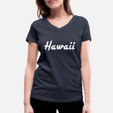 Stat Hawaii - Honolulu - US State - United States - United States - Økologisk T-skjorte med V-hals for kvinner