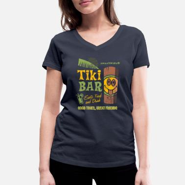 Tiki SmileyWorld 'Tiki Bar' teenager t-shirt - Vrouwen V-hals bio T-shirt