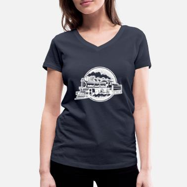 Narrow Gauge STEAM FLOOR MOTORWAY HOBBY MODEL RAILWAY - Women's Organic V-Neck T-Shirt