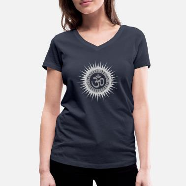 Sun Signs Yoga sign sun - Women's Organic V-Neck T-Shirt