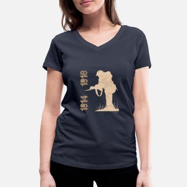 1914 1914 1918 2B - Women's Organic V-Neck T-Shirt
