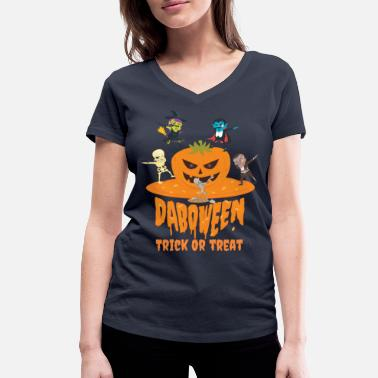 Trick Or Treat Daboween Trick Or Treat - T-shirt bio col V Femme