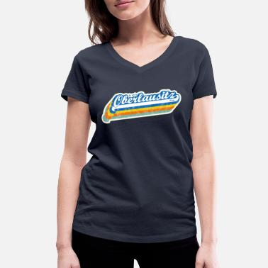 'Is so' Oberlausitz Ding 'retro design - Women's Organic V-Neck T-Shirt