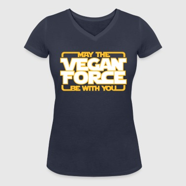 may the Vegan Force be with you  - Vegan - Veganer - Ekologisk T-shirt med V-ringning dam från Stanley & Stella