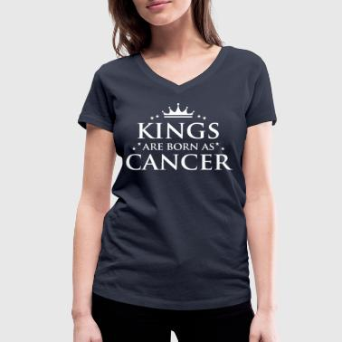 Kings are born as Cancer - Frauen Bio-T-Shirt mit V-Ausschnitt von Stanley & Stella