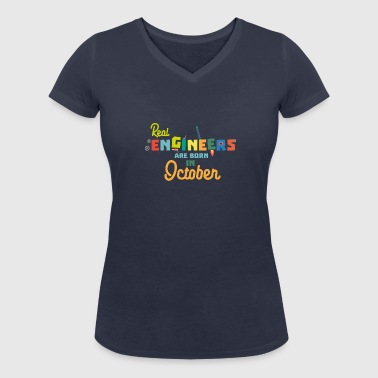Engineers are born in October 52p - Women's Organic V-Neck T-Shirt by Stanley & Stella