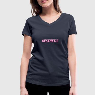 Aesthetic tee - Women's Organic V-Neck T-Shirt by Stanley & Stella