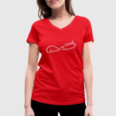 l'amore_conta_ac4 - Women's Organic V-Neck T-Shirt by Stanley & Stella
