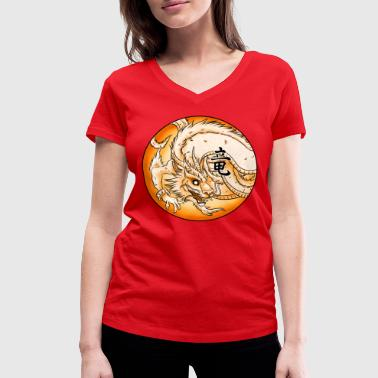 Dragon Chinese Dragon - Women's Organic V-Neck T-Shirt by Stanley & Stella