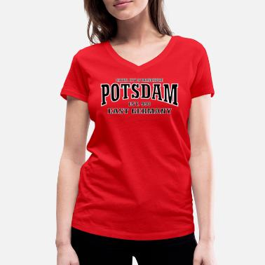 Schlaatz Potsdam Capital City of Brandenburg East Germany - Frauen Bio-T-Shirt mit V-Ausschnitt von Stanley & Stella