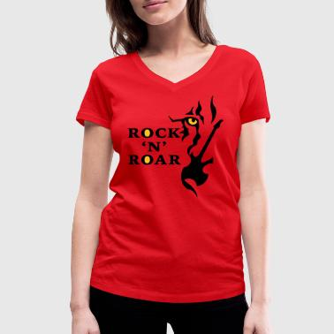 Rock and Roar - Women's Organic V-Neck T-Shirt by Stanley & Stella