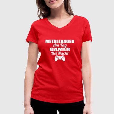 Metallbauer Gambling on the day gamer night lel lul METALLBAUER png - Women's Organic V-Neck T-Shirt by Stanley & Stella
