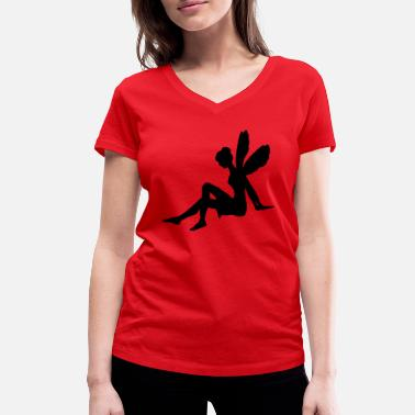 Seat Seated fairy - Women's Organic V-Neck T-Shirt