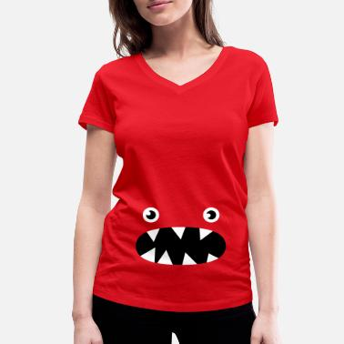 Phillip Phillips Phillip the little monster - Women's Organic V-Neck T-Shirt by Stanley & Stella